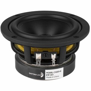 "Dayton Audio CX120-8 4"" Coaxial Driver with 3/4"" Silk Dome Tweeter"