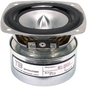 "Tang Band W3-593SF 3"" Full Range Silver Cone Driver"