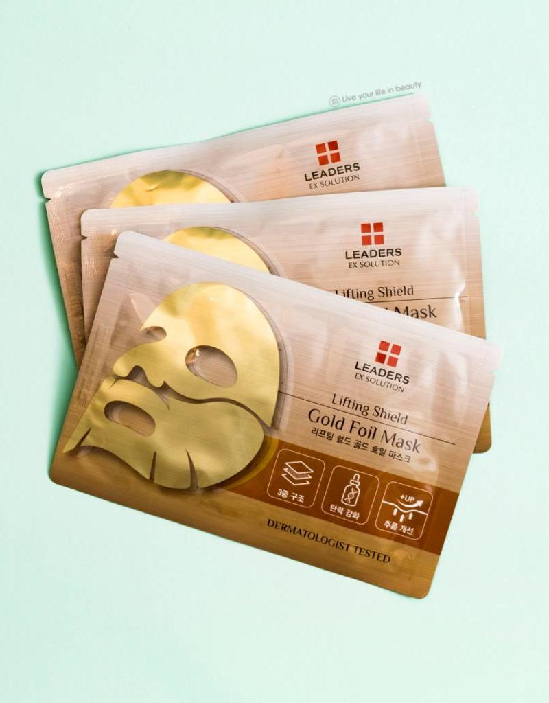 Leaders Cosmetics Ex Solution lifting shield gold foil mask