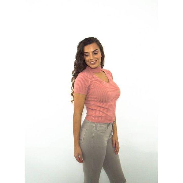 Choker top pink