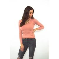 Choker top pink long sleeve