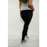 High waist zwart spetters