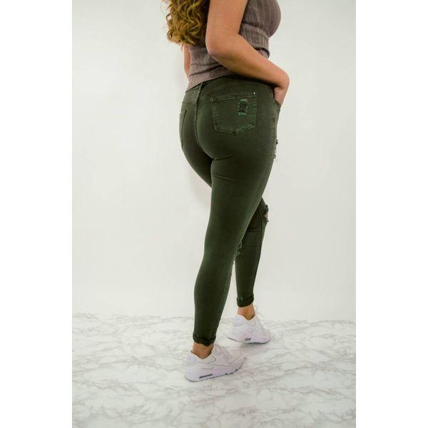 High waist army green