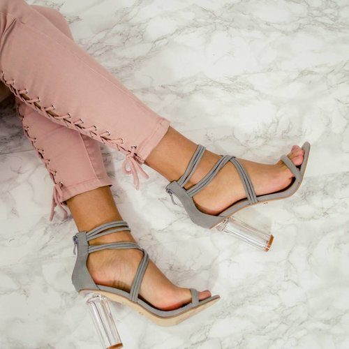 Heels grey transparant
