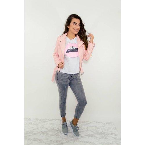 T-shirt pink kiss