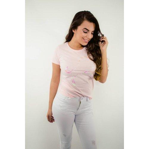 T-shirt pink unicorn
