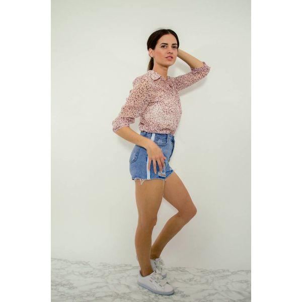 Blouse mesh pink