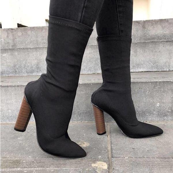Heels bandage low Black
