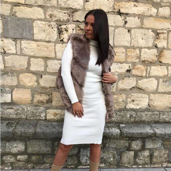 Faux fur gilet teddy