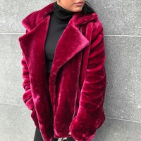 FLUFFY bicker jacket PURPLE