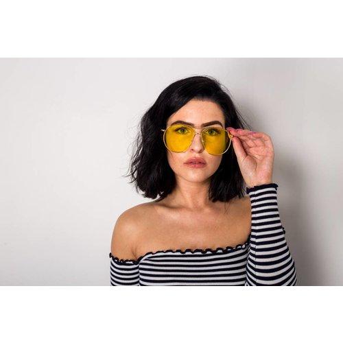 Aviator sunglasses yellow