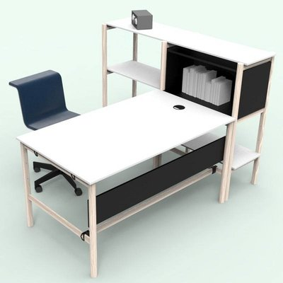 Bulo DAN desk + rack