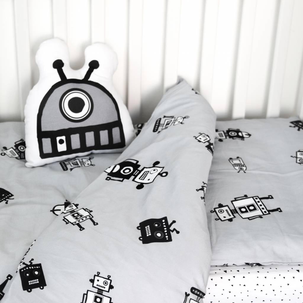 Ooh Noo Robots Duvet Cover