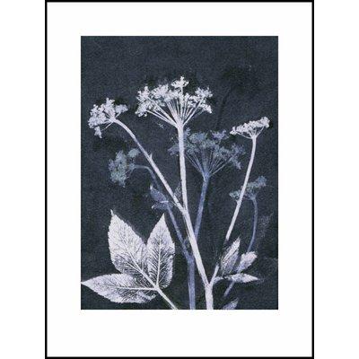 Pernille Folcarelli print blauw zevenblad