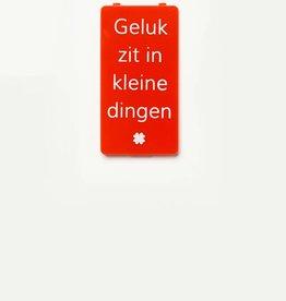 YOU·P® Rood | Geluk Zit In Kleine Dingen