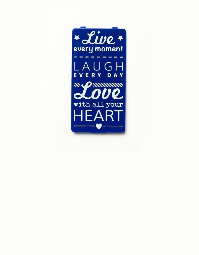 YOU·P® YOU·P® klepje | blauw | Live Laugh Love