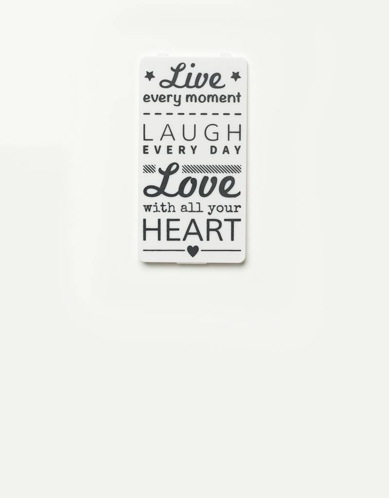 YOU·P® YOU·P® cover | white | Live Laugh Love