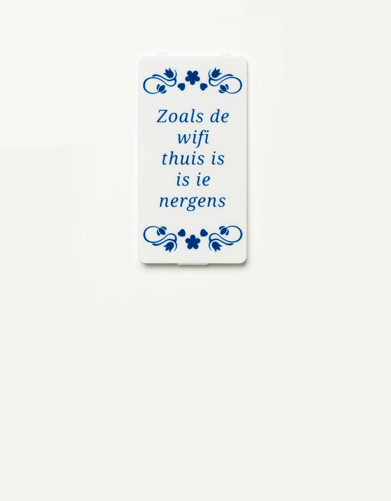 YOU·P® YOU·P® cover | white | Zoals De Wifi Thuis Is Is Ie Nergens