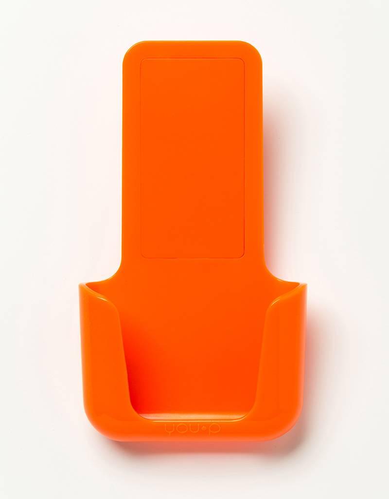 YOU·P® YOU·P® smartphonehouder | oranje houder |  oranje klepje