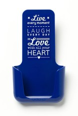 YOU·P® YOU·P® smartphonehouder | blue holder | blue cover | Live Laugh Love