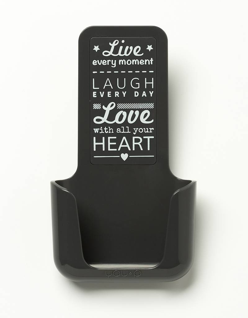 YOU·P® YOU·P® smartphonehouder | gray holder | gray cover | Live Laugh Love