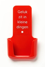 YOU·P® YOU·P® smartphone holder | red holder | red cover | Geluk Zit In Kleine Dingen