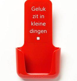 YOU·P® YOU·P® smartphonehouder | rood | Geluk Zit In