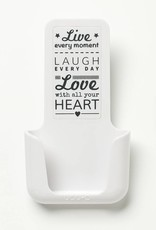 YOU·P® YOU·P® smartphone holder | white holder | white cover | Live Laugh Love