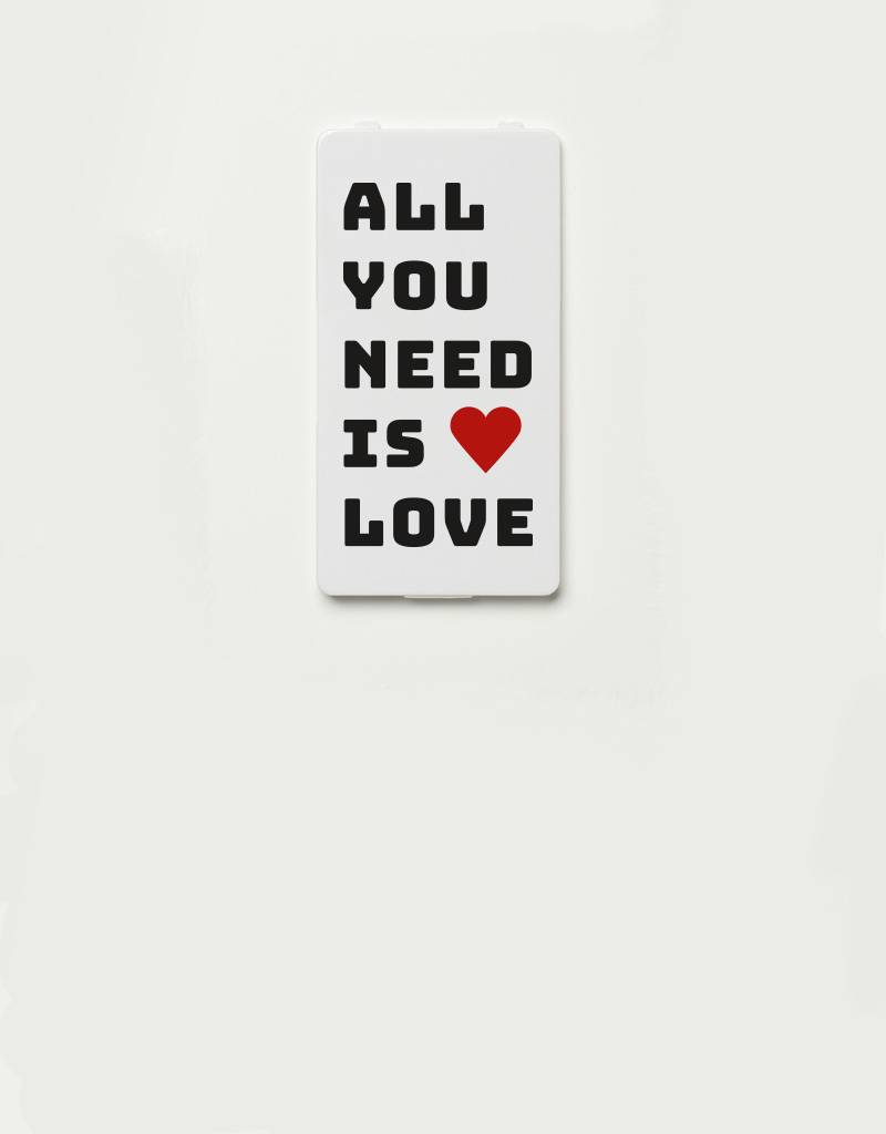 YOU·P® YOU·P®-klepje limited edition | ALL YOU NEED (zwarte tekst)