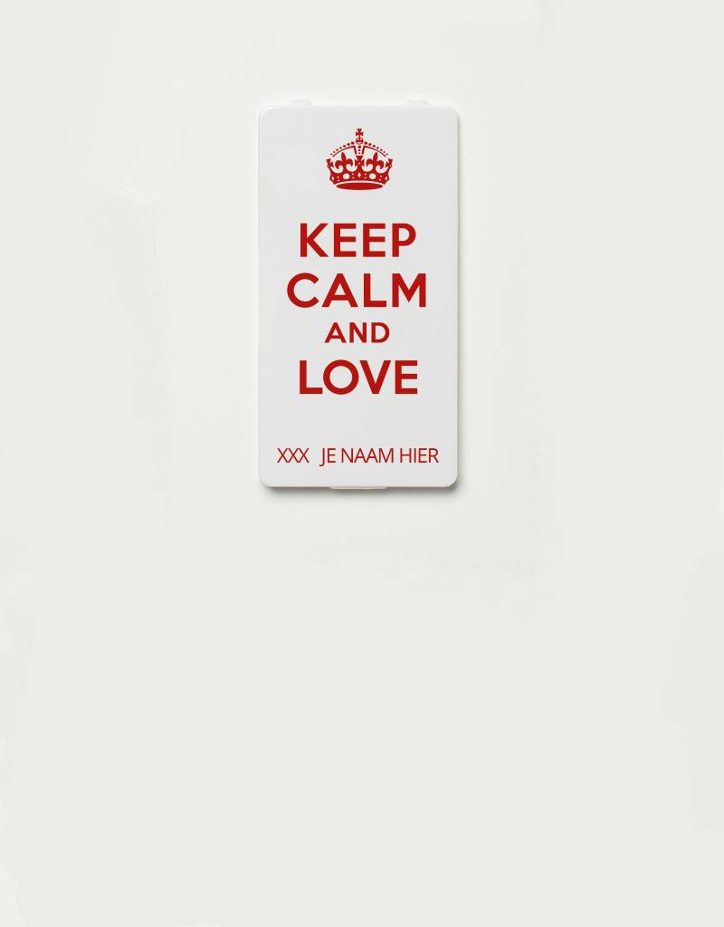 YOU·P® YOU·P®-klepje limited edition | KEEP CALM AND LOVE + NAAM naar keuze