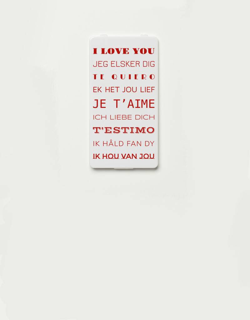 YOU·P® YOU·P®-klepje limited edition | I LOVE YOU (9 talen)
