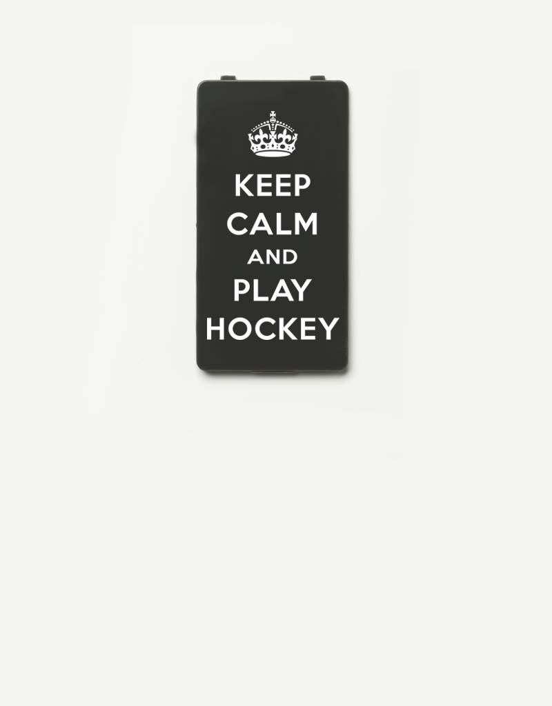 YOU·P® YOU·P® Limited Edition - cover for YOU·P smartphone holder | KEEP CALM and PLAY HOCKEY | Gray