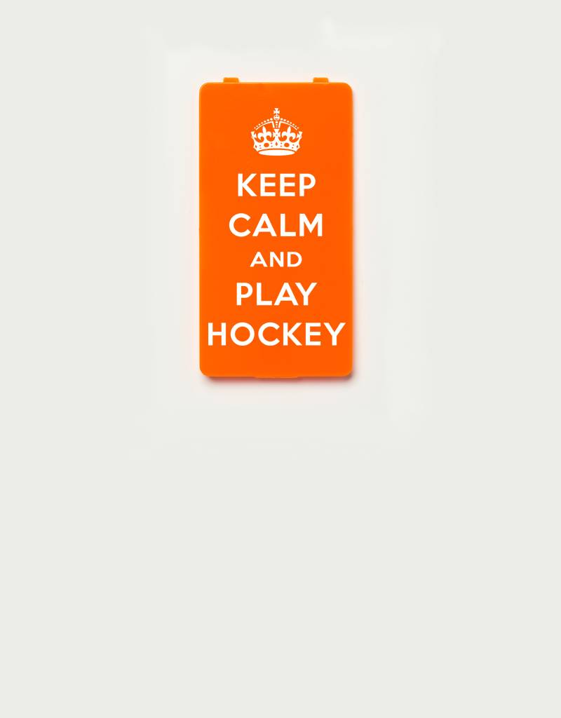 YOU·P® YOU·P® Limited Edition - cover for YOU·P smartphone holder | KEEP CALM and PLAY HOCKEY | Orange
