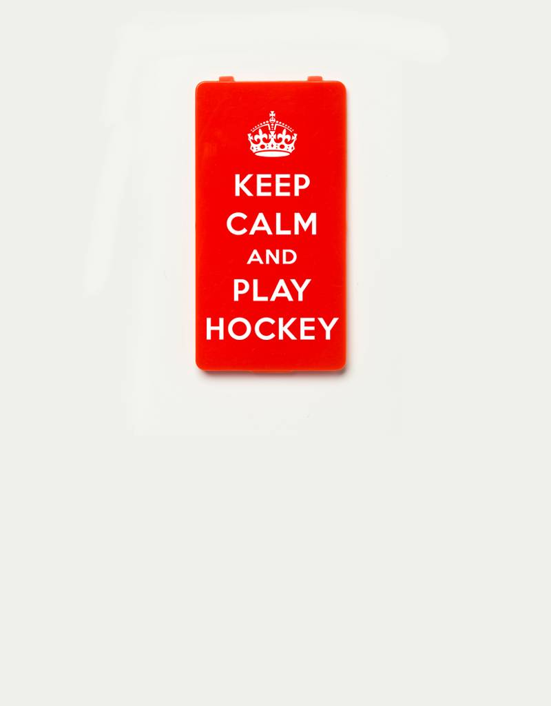 YOU·P® YOU·P®-klepje limited edition | KEEP CALM and PLAY HOCKEY - Rood