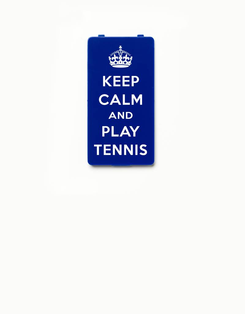 YOU·P® YOU·P®-klepje limited edition | KEEP CALM and PLAY TENNIS | Blauw