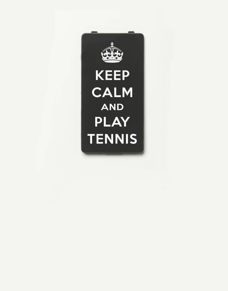 YOU·P® YOU·P® Limited Edition - cover for YOU·P smartphone holder | KEEP CALM and PLAY TENNIS | Gray