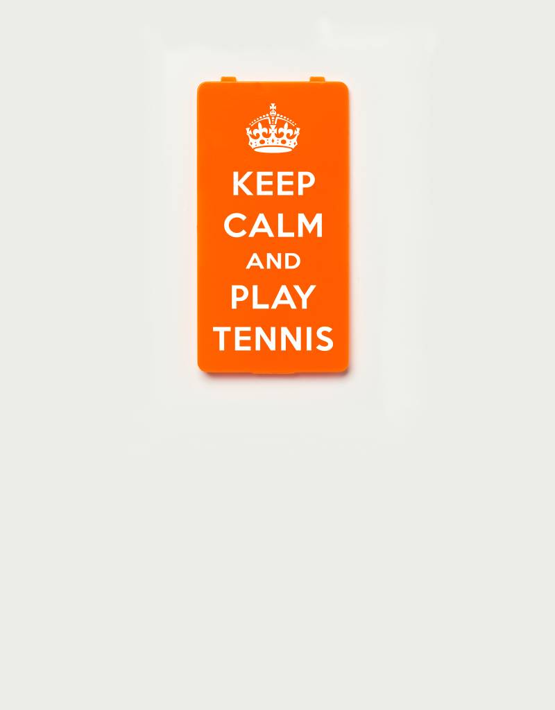 YOU·P® YOU·P®-klepje limited edition | KEEP CALM and PLAY TENNIS - Oranje