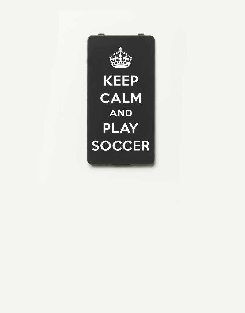 YOU·P® YOU·P® Limited Edition - cover for YOU·P smartphone holder | KEEP CALM and PLAY SOCCER | Gray