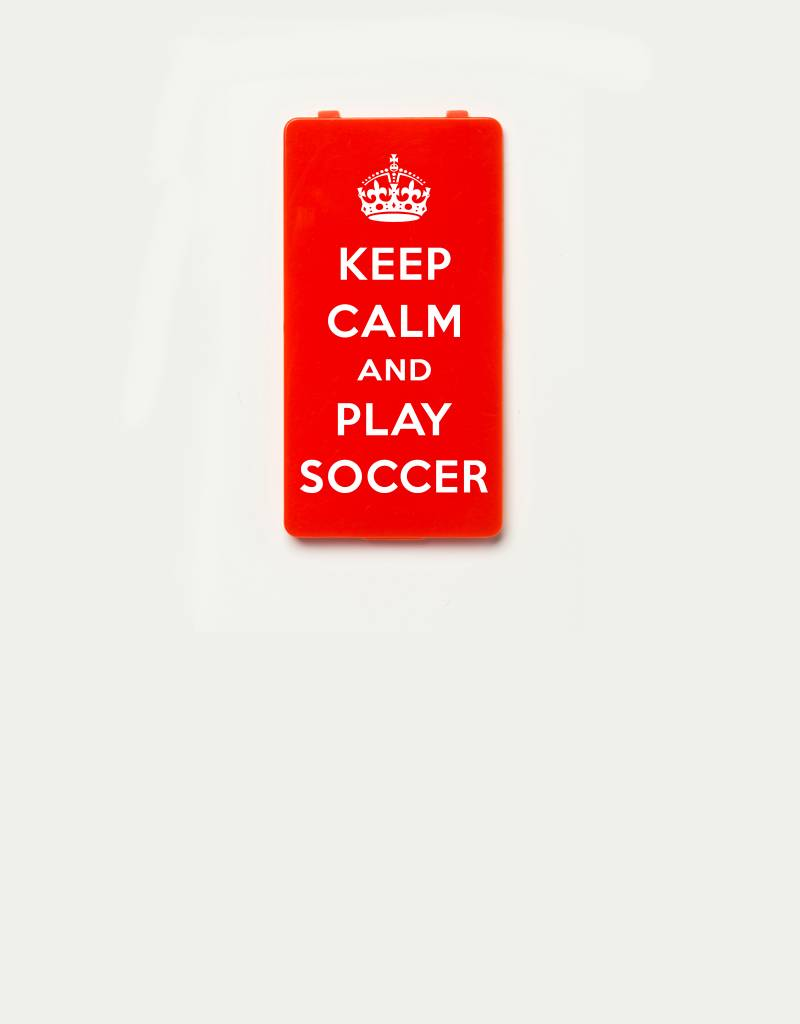 YOU·P® YOU·P®-klepje limited edition | KEEP CALM and PLAY SOCCER- Rood