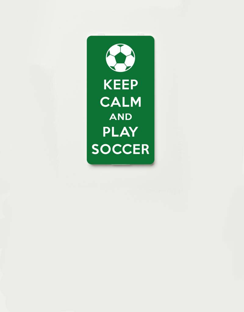 YOU·P® YOU·P® Limited Edition - cover for YOU·P smartphone holder | KEEP CALM and PLAY SOCCER | Green