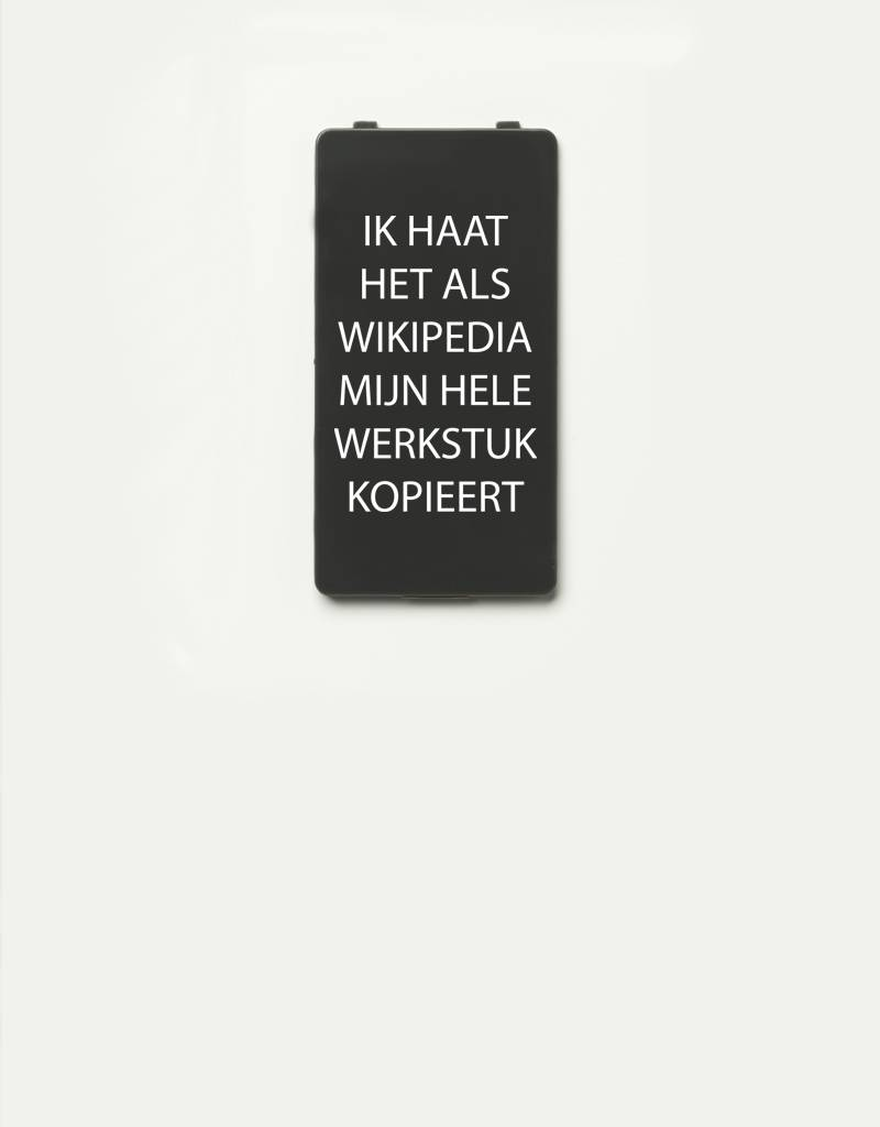 YOU·P® YOU·P® Limited Edition - cover for YOU·P smartphone holder | IK HAAT HET ALS WIKIPEDIA MIJN HELE WERKSTUK KOPIEERT | Gray