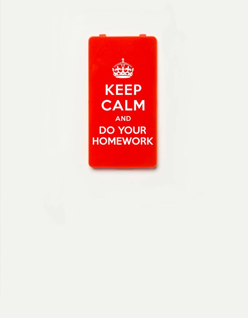 YOU·P® YOU·P®-klepje limited edition | KEEP CALM and DO YOUR HOMEWORK | Rood