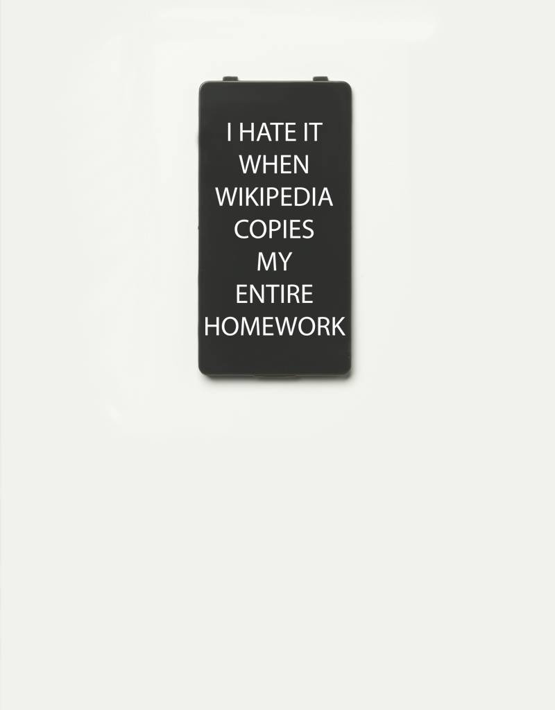 YOU·P® YOU·P®-klepje limited edition | I HATE IT WHEN WIKIPEDIA COPIES MY ENTIRE HOMEWORK | Grijs
