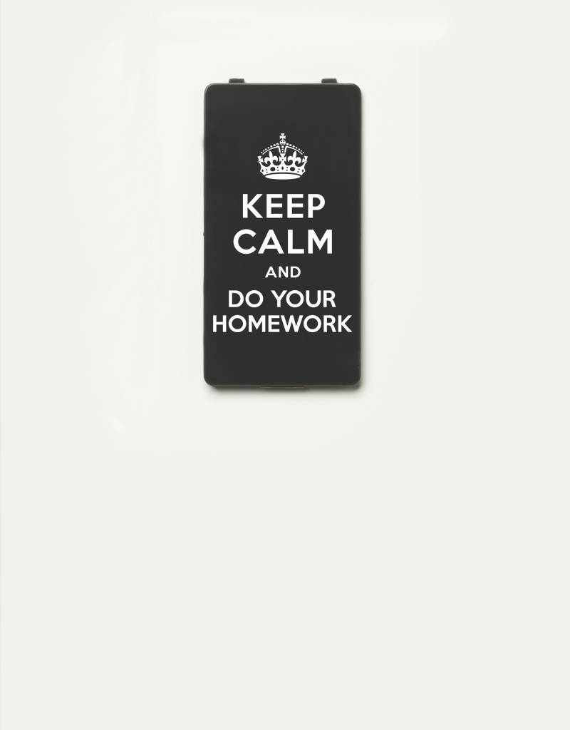 YOU·P® YOU·P®-klepje limited edition   KEEP CALM and DO YOUR HOMEWORK   Grijs
