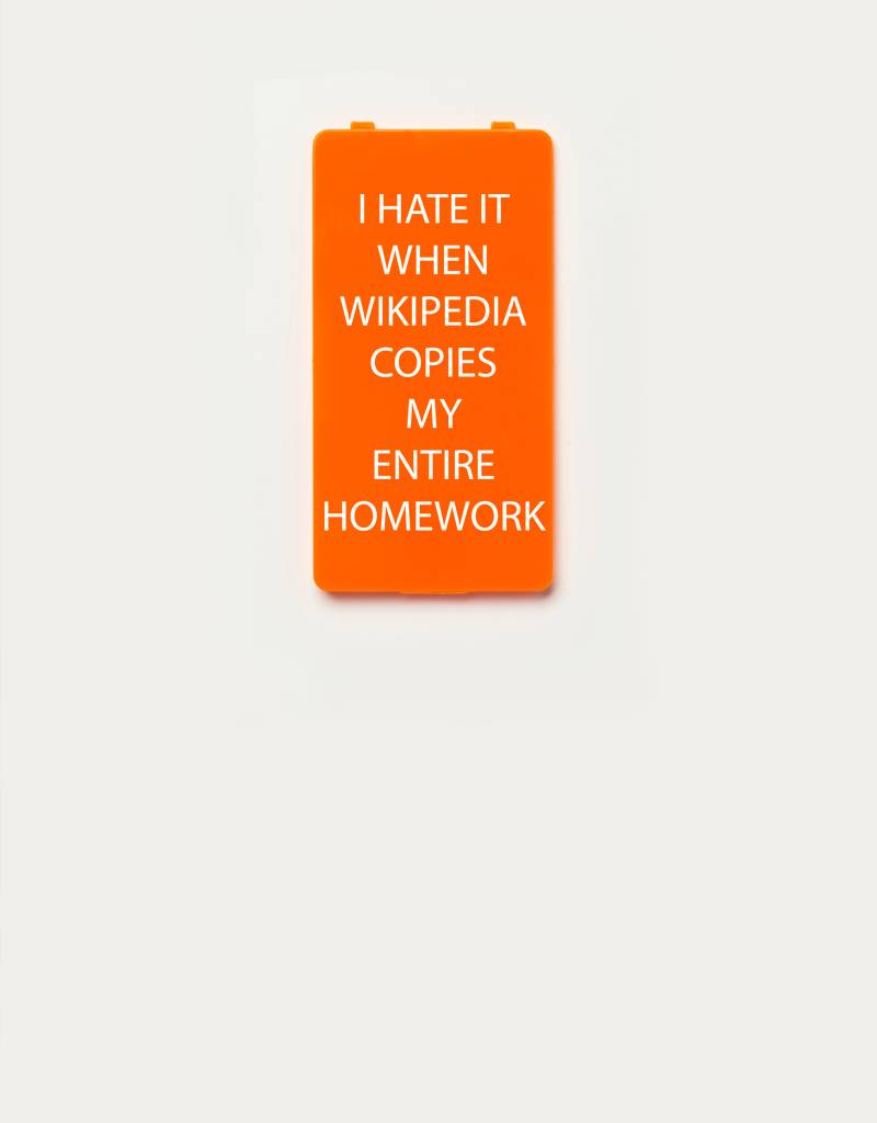 YOU·P® YOU·P® Limited Edition - cover for YOU·P smartphone holder | I HATE IT WHEN WIKIPEDIA COPIES MY ENTIRE HOMEWORK | Orange