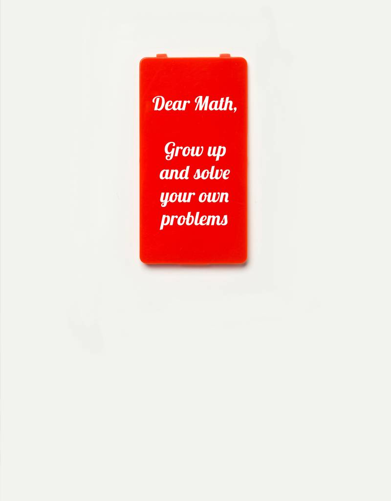YOU·P® YOU·P® Limited Edition - cover for YOU·P smartphone holder | DEAR MATH GROW UP AND SOLVE YOUR OWN PROBLEMS | Red
