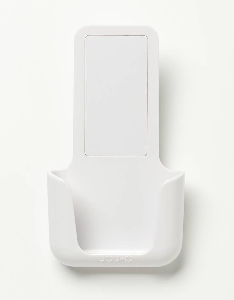 YOU·P® YOU·P® smartphonehouder | witte houder | wit klepje