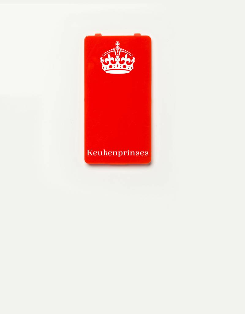 YOU·P® YOU·P® - cover for YOU·P smartphone holder | Keukenprinses (white on red)