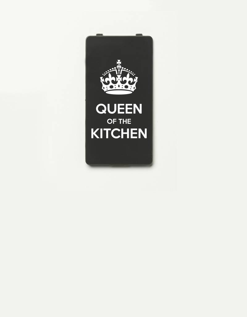 YOU·P® cover for YOU·P smartphone holder | Queen of the Kitchen | White on Gray