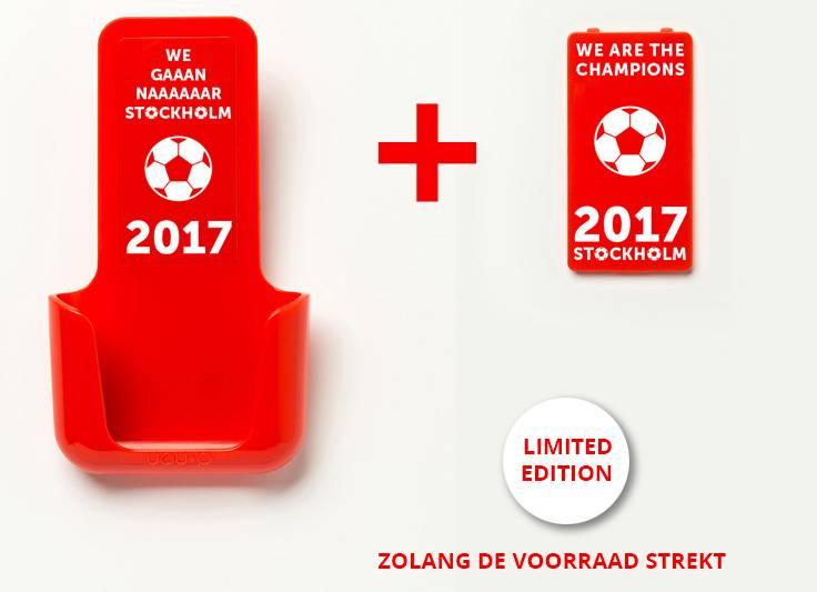 YOU·P® YOU·P® smartphonehouder | rode houder | 2 x rood klepje | Stockholm 2017